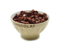 Bowl of chocolate flakes Stock Images