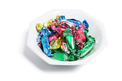 Bowl of Chocolate Lollies Stock Image