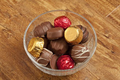 Bowl of chocolates Royalty Free Stock Photo