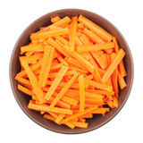 Bowl Of Chopped Carrots Stock Photography
