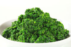Chopped spinach Royalty Free Stock Photography