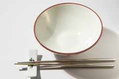 Bowl And Chopstick. For conceptual purpose royalty free stock photo