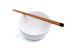 Bowl and Chopstick. Chopstick and Bowl Royalty Free Stock Photography