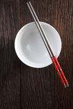 Bowl and chopstick Royalty Free Stock Photos