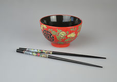 Bowl and chopstick set. Chinese bowl and chopsticks set.  Photo taken March 2014 Stock Photography