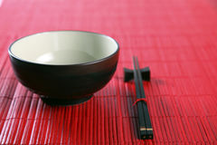 Bowl and chopsticks Royalty Free Stock Photos