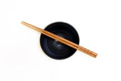 Bowl and chopsticks stock photo