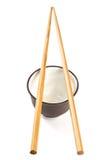 Bowl and chopsticks Stock Photos