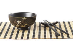 Bowl and chopsticks Stock Photo