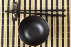 Bowl and chopsticks Royalty Free Stock Image