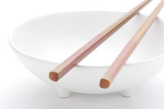Bowl and chopsticks Royalty Free Stock Photos