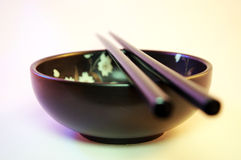 Bowl and Chopsticks Stock Photography