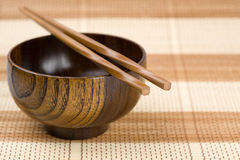 bowl and chopsticks Royalty Free Stock Photography