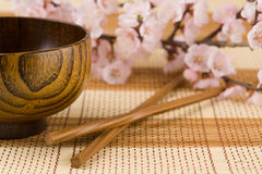 Bowl and chopsticks Royalty Free Stock Image