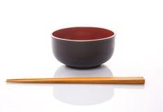 Bowl and Chopsticks I Stock Image