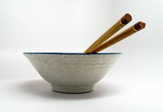Bowl and Chopsticks Royalty Free Stock Photo
