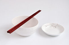 Bowl Chopsticks plate Royalty Free Stock Images