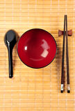 Bowl and chopsticks set Royalty Free Stock Images