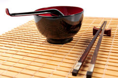 Bowl and chopsticks set Royalty Free Stock Image