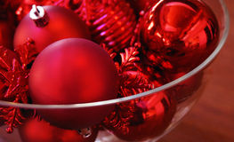 Bowl of Christmas Ornaments Royalty Free Stock Photography