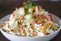 Cilantro Lime Slaw. A bowl of cilantro , lime cole slaw Royalty Free Stock Photography