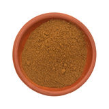 Bowl of cinnamon spice on a white background Stock Photo