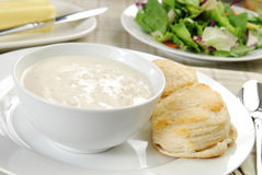 Bowl of clam chowder Stock Photography