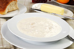 Bowl of clam chowder Royalty Free Stock Images