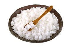 A bowl of clean natural Sea Salt Stock Photography