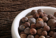 Bowl with coarse pepper Stock Photos