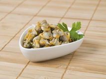 Bowl with cockles Royalty Free Stock Image
