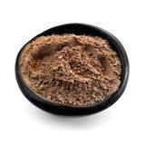 Bowl of Cocoa Powder Isolated on White Royalty Free Stock Photography