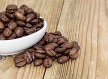 Bowl with Coffee Beans Stock Photography