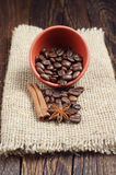 Bowl with coffee beans Royalty Free Stock Image