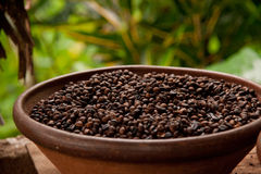 Bowl of coffee Stock Photography