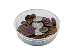 Bowl with coins Royalty Free Stock Photos