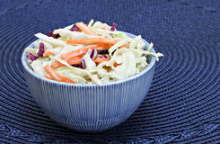 A bowl of cole slaw Royalty Free Stock Photo