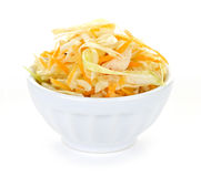 Bowl of coleslaw Stock Photos