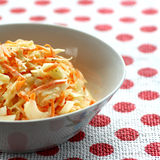 Bowl of coleslaw Stock Photo
