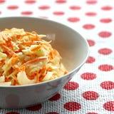 Bowl of coleslaw Stock Photo