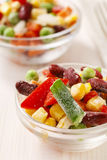 Bowl of colorful frozen vegetables Royalty Free Stock Images