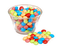 Bowl of colorful fruit candy Royalty Free Stock Photos