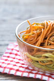Bowl of colorful spaghetti Stock Photography