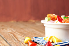 Bowl with colorful sweet candies. Selective focus, copy space background. Traditional Seker Bayram holidays candies royalty free stock images