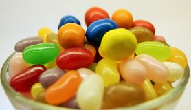 Bowl of Coloured Candy Stock Photography