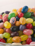 Bowl Of Coloured Jellybeans Royalty Free Stock Photos
