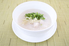 Bowl of Congee or Porridge Stock Photography