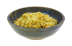 Bowl Cooked Couscous Royalty Free Stock Photography