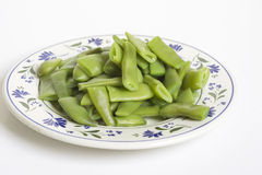 Bowl of cooked green beans, I Isolated Royalty Free Stock Photos