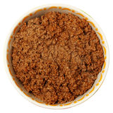Bowl of Cooked Ground Beef Over White Royalty Free Stock Image